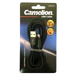Nylon 6 FT Black Lightning USB Charging Cord