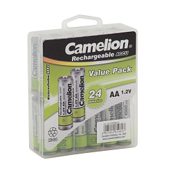 Camelion AA 1000mAh  Ni-Cd Rechargeable 24 Hard Pack