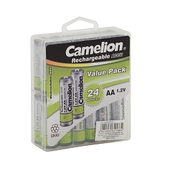 Camelion AA 800mAh  Ni-Cd Rechargeable 24 Hard Pack