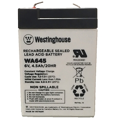 WA645 SEALED LEAD ACID BATTERY (6V 4.5AH)