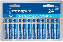 Westinghouse AA Dynamo Alkaline Clamshell Pack of 24