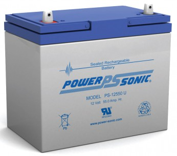 Power Sonic PS-12550 12 Volt 55Ah Universal Terminal