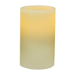 3 x 5  Ivory Flameless Wax Pillar Candle