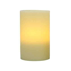 4x6 Ivory Flameless Wax Pillar Candle