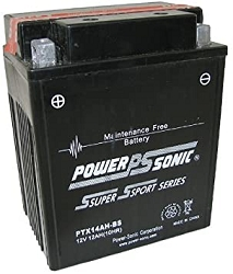 Power Sonic PTX14AH-BS Power Sport Battery