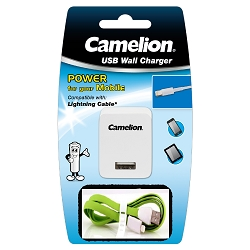 Camelion Lightning Sync & Charging Cable  + Wall Charger