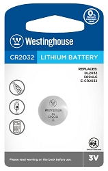 Westinghouse CR2032 3V Lithium Button Cell 1PK
