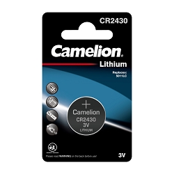 Camelion CR2430 3V Lithium Coin Cell 1pk