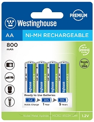Westinghouse AA Ni-Mh Always Ready  800mAh 4pk Blister