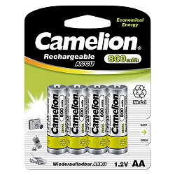 AA Ni-Cad Rechargeable Batteries 800mAh 4 pack