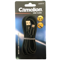 Black Nylon 6FT  Black Micro USB Charging Cord Blister Pack