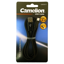 Black Nylon 3 Foot Type-C USB Charging Cord Blister Pack