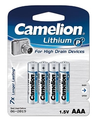 Camelion AAA P7 Lithium 4pk