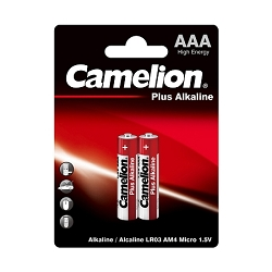 Camelion AAA Plus Alkaline Blister Pack of 2