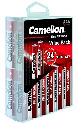 Camelion AAA Plus Alkaline Hard Plastic Case of 24