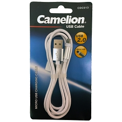 Gold or Silver Nylon 3FT  Micro USB Charging Cord Blister Pack