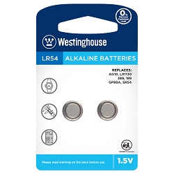 Westinghouse AG10 / 389 / LR1130 1.5V Button Cell Battery 2pk