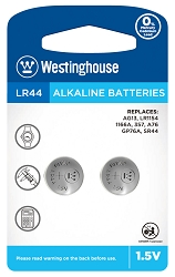Westinghouse AG13 / 357 / LR44 1.5V Button Cell Battery 2pk