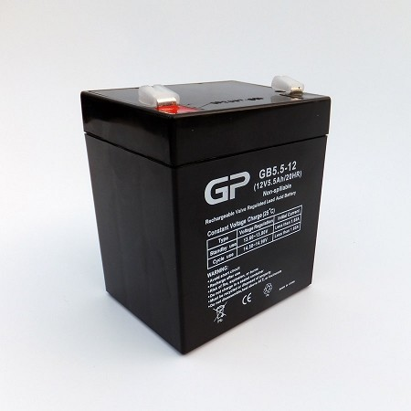 GP1255 Sealed Lead Acid Battery (12V 5.5Ah)