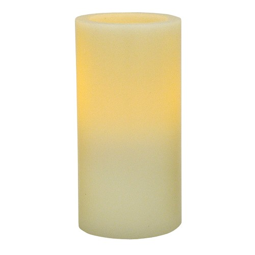 3 x 6 Ivory Flameless Wax Pillar Candle