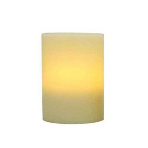 4x5 Ivory Flameless Wax Pillar Candle