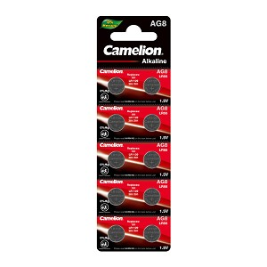 Camelion AG8 / LR55 / 391 1.5V Button Cell Battery 10pk