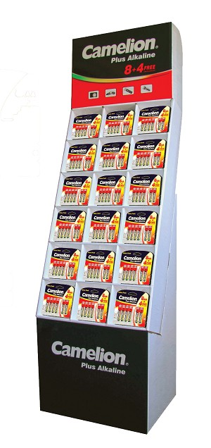 Camelion 8+4 AA & AAA Plus Alkaline Floor Display of 84