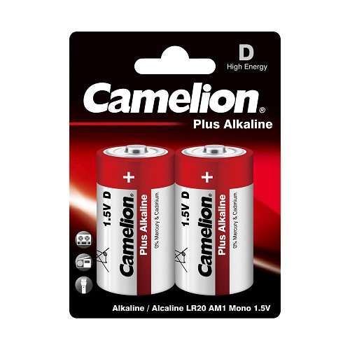 Camelion D Plus Alkaline Blister Pack of 2