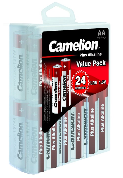 Camelion AA Plus Alkaline Hard Plastic Case of 24