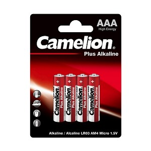 Camelion AAA Plus Alkaline Blister Pack of 4