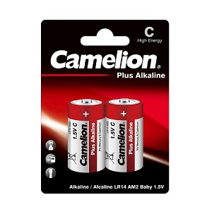 Camelion C Plus Alkaline Blister Pack of 2