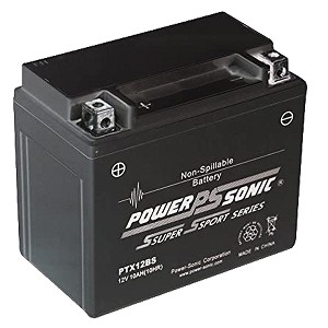 Power Sonic PTX12-BS Power Sport Battery